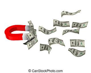 aimant, argent
