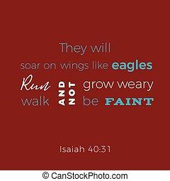 aimer, ailes, monter en flèche, biblique, ils, isaiah, ...
