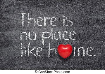 aimer, coeur, maison