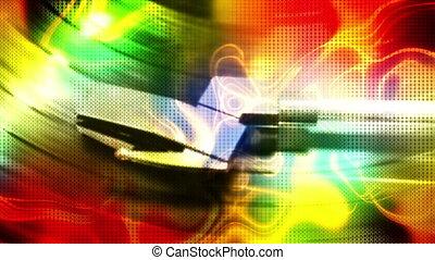 aimer, enregistrement, couleur, joueur, brin, fumée