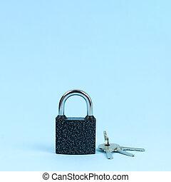 aimer, sécurité, serrure, clés, symbole, concept