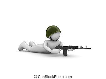 Aiming Soldier in Ambush