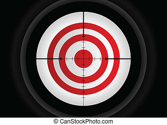 Aiming Target - Vector illustration of a rifle lens aiming a...