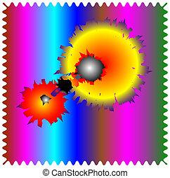 aimless-color, zusammensetzung, abstrakt