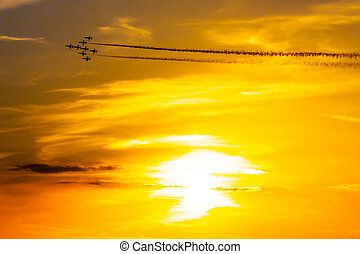 Air acrobatics group