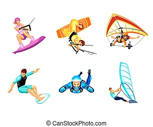 Air and water sport - Air and water extreme sport activity...