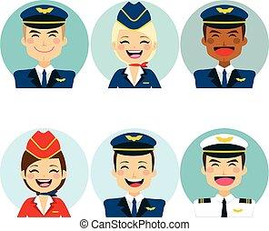 air, avatars, équipage