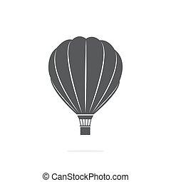 Air Ballon Icon on white background - Air Ballon Vector Icon...
