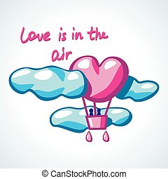 air ballon in a shape of heart