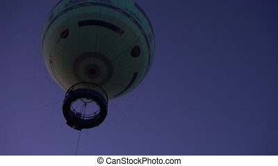 Air balloon against evening sky - Amazing hot air balloon...
