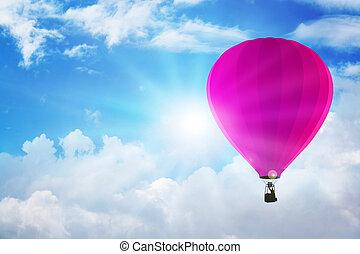 Air Balloon - Air balloon floating on the sky