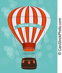 Air Balloon Background Illustration