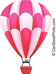 Air balloon basket icon, cartoon style