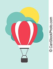 Air balloon card template