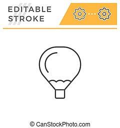 Air balloon editable stroke line icon