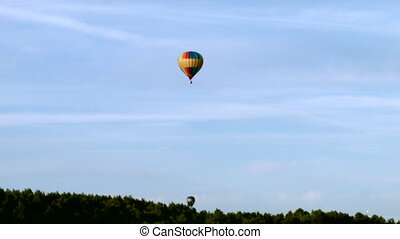 Air balloon fly out from aerodrome