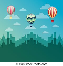 air balloon flying