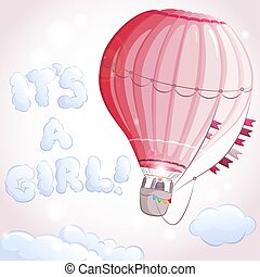 air balloon girl