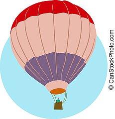 Air Balloon - Hot air balloon floating along in the sky.