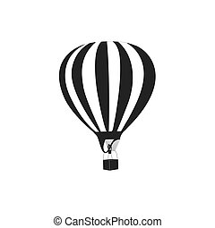 air balloon icon. vector