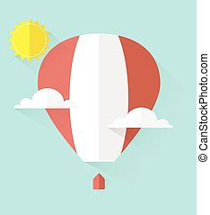 air balloon in sky