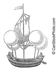"""Air Balloon - """"Air Balloon invention in the 17th century"""". ..."""