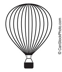 Air balloon isolated on white