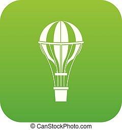 Air balloon journey icon digital green