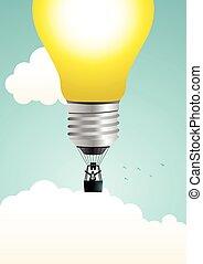 Air Balloon Light Bulb