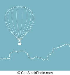 Air Balloon Line Art