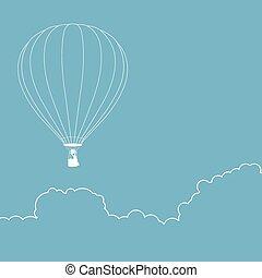 Air Balloon Line Art