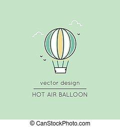 Air balloon line icon