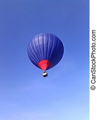 Air balloon on a background of blue