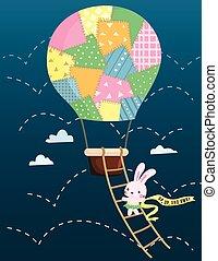 Air Balloon Rabbit