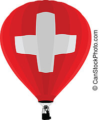 Air Balloon, Switzerland Flag