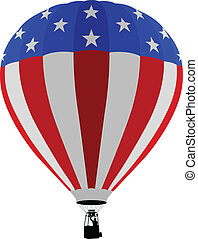 Air Balloon, USA Flag