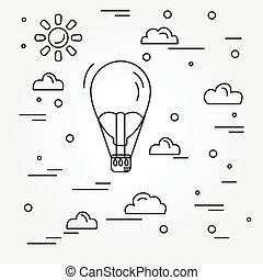 Air balloon. Vector.