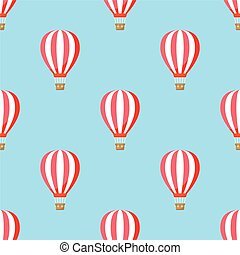air balloon with clouds pattern