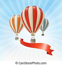 Air balloons background. Vector