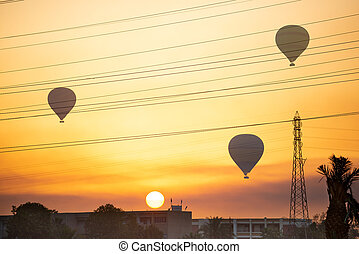 Air balloons over Luxor