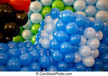 Air balloons pattern.
