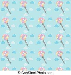 air balloons pattern vector illustration