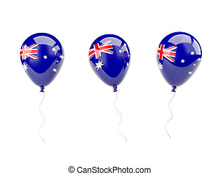 Air balloons with flag of australia