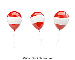 Air balloons with flag of austria