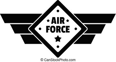 Air best force logo, simple style