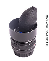 Air blower with camera lens Isolated on a white background