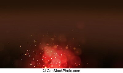 Air bubbles on hazy red background