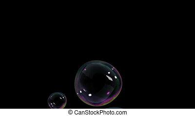 air, bulles, levée, beau
