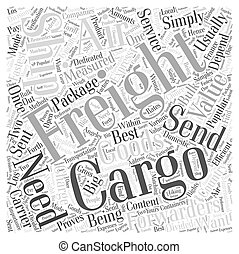 air cargo freight Word Cloud Concept