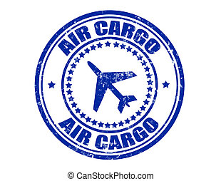 Stamp with text air cargo inside, vector illustration
